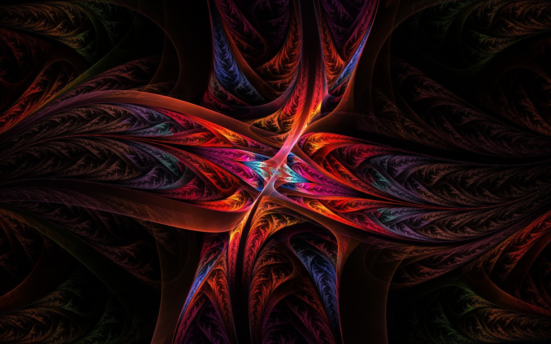 colorful fractals. iphone wallpapers for free.