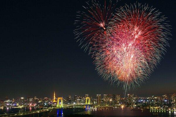 fireworks tokyo japan tokyo fireworks