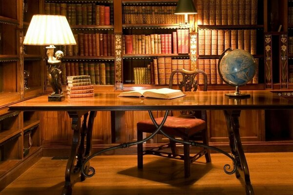 books office lamp Desk globe