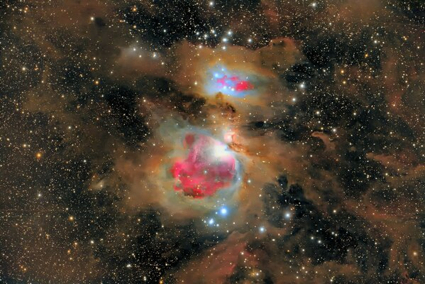 m42 dust constellation Orion nebula m43
