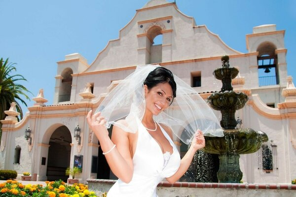 hot denise milani bride dress