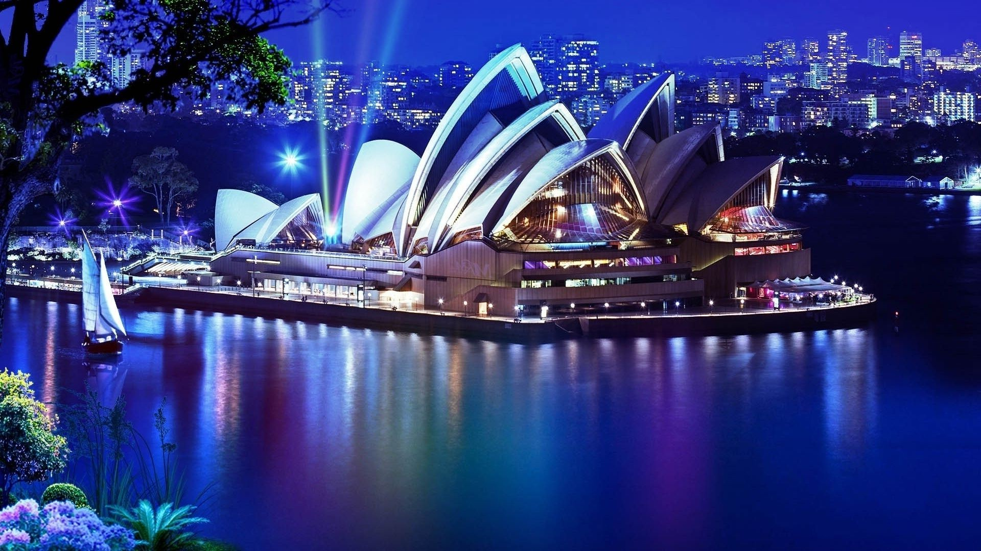 The Opera house in Sydney night Sydney theatre