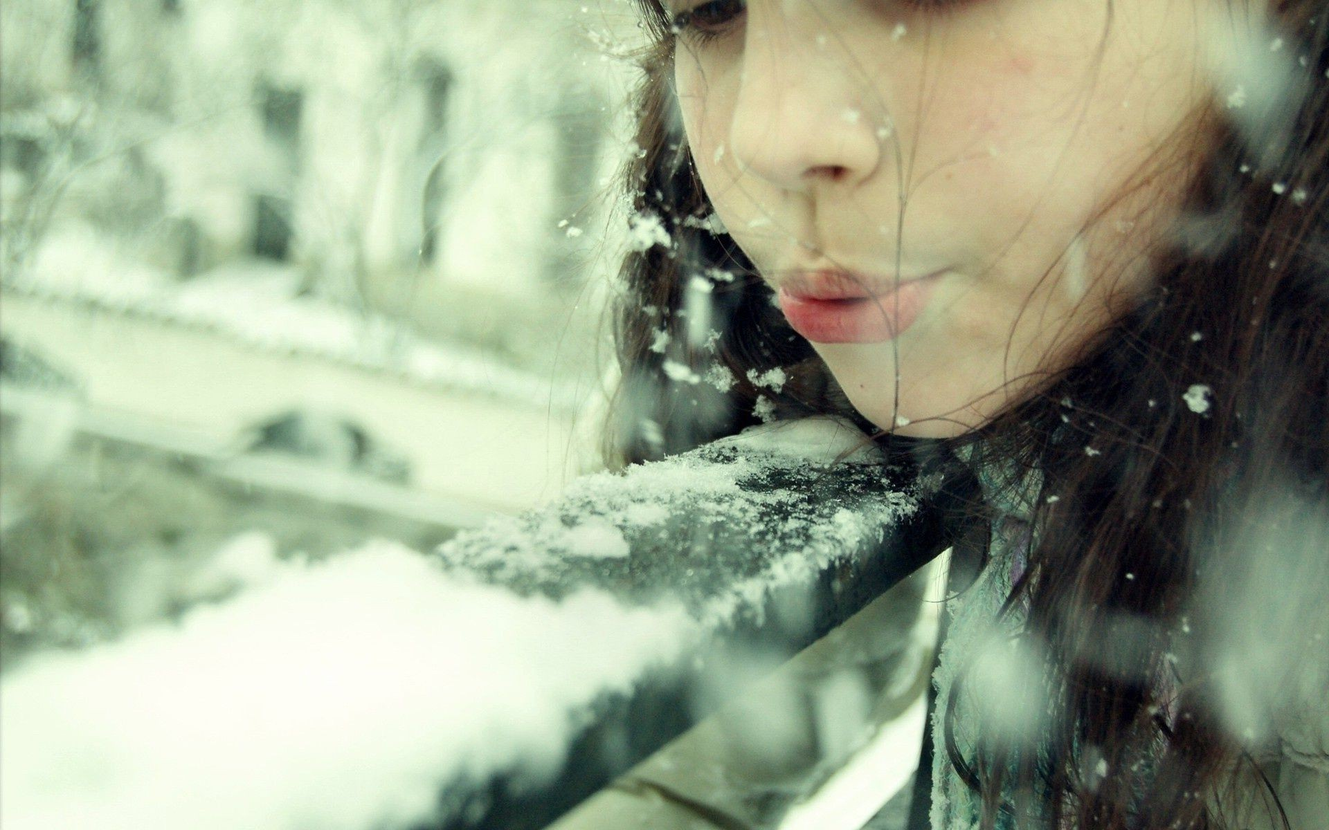 personal photo girl portrait woman blur one beautiful outdoors model fashion winter adult face light water nature cold rain