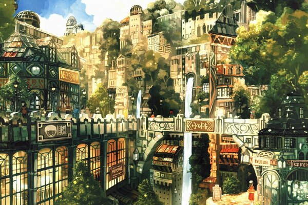 Anime City Painting