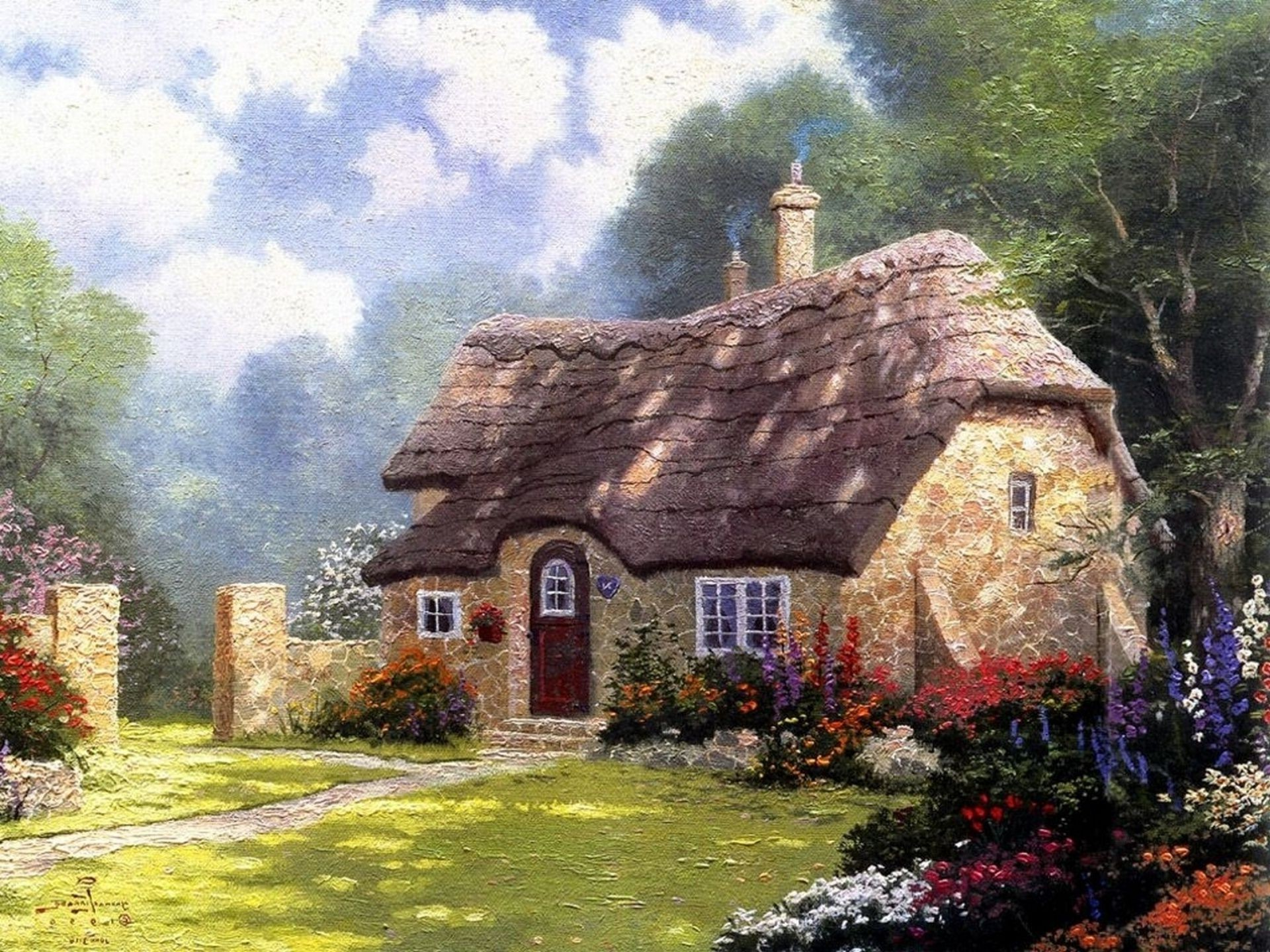 city and architecture house architecture building bungalow summer old garden rural home travel nature family stone outdoors countryside grass landscape country ancient