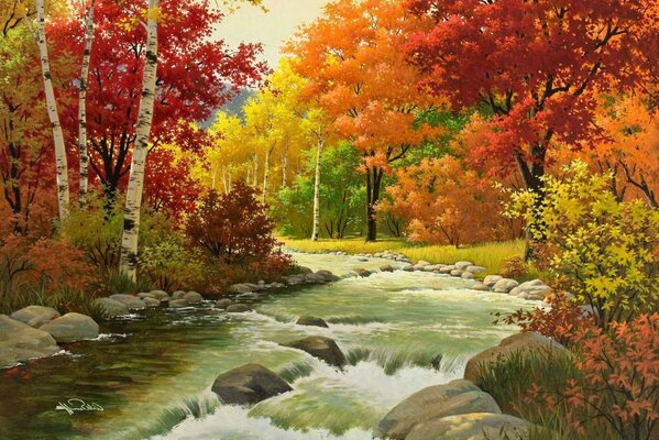autumn Arthur saron sarnoff trees forest nature picture