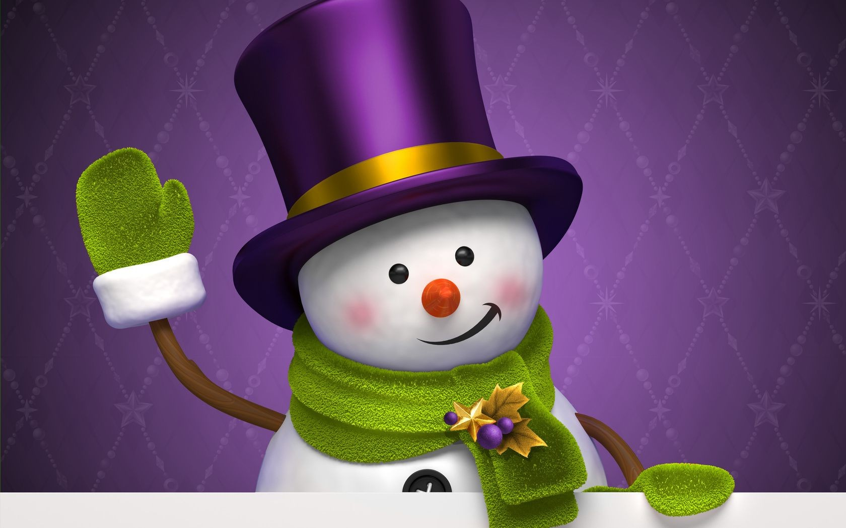 new year winter snowman holiday