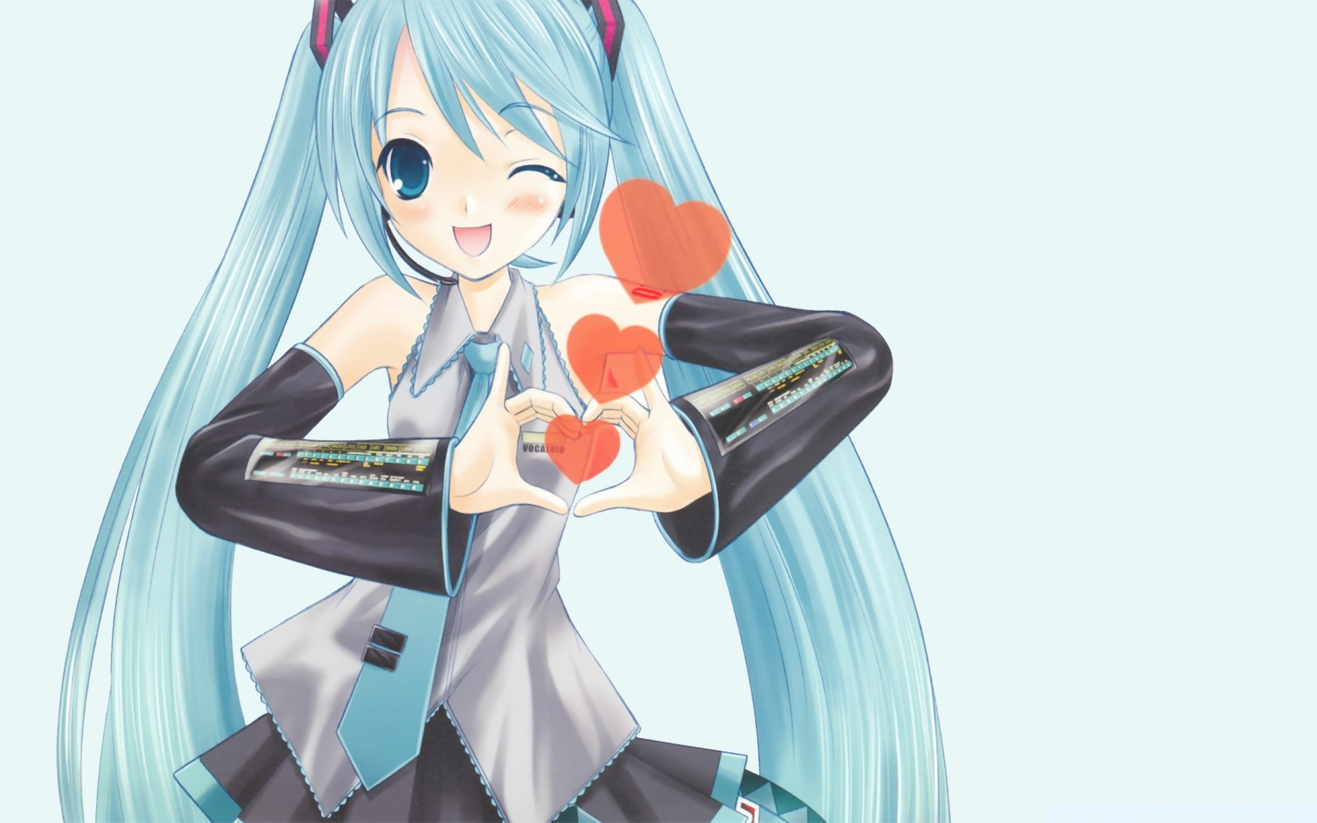 Hatsune Miku In Love IPhone Wallpapers For Free