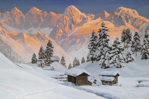 .winter Alps landscape mountain alois arnegger