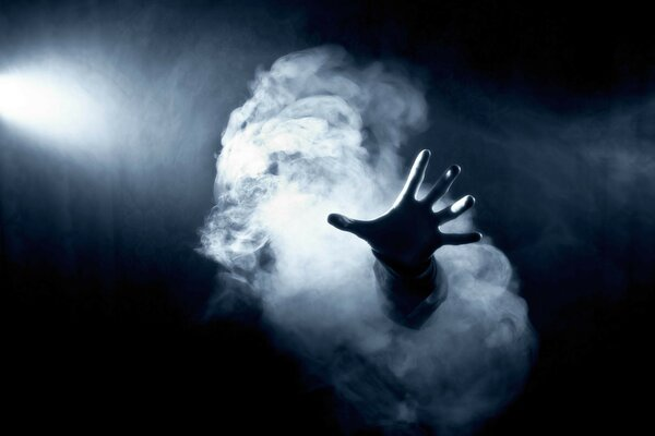 hand hand smoke light horror creepy Ghost lights fe