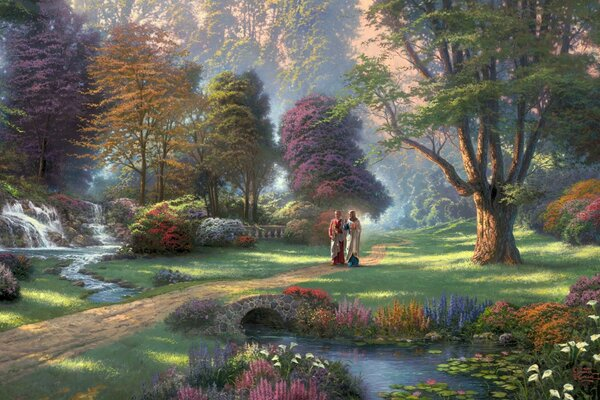 Jesus Painting by Thomas Kinkade