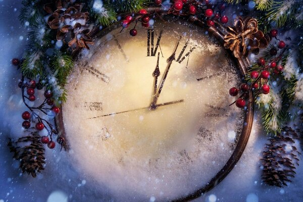 watch time dial snow new year 2013 beauty vipd