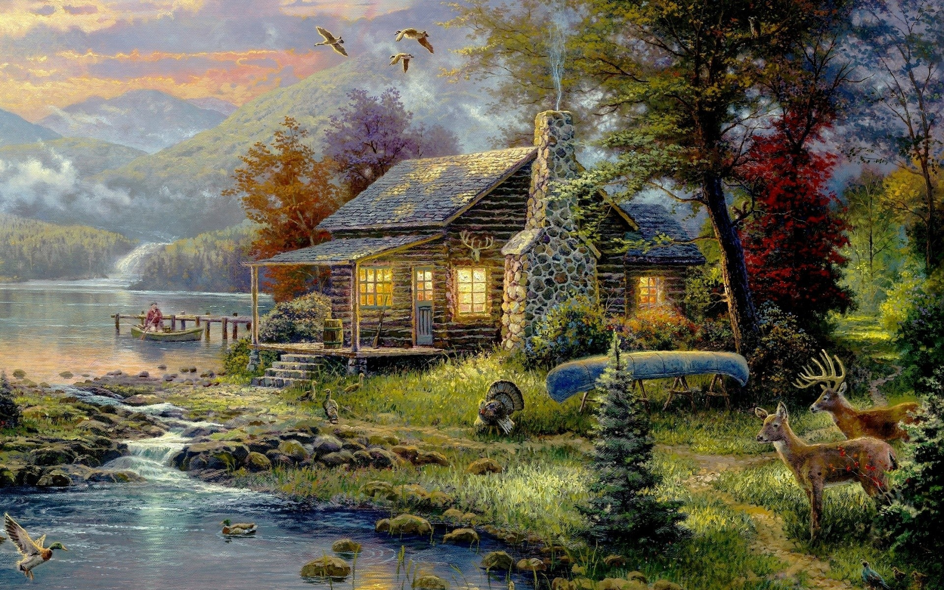 drawings house wood nature tree fall outdoors water landscape travel grass bungalow building architecture rural leaf