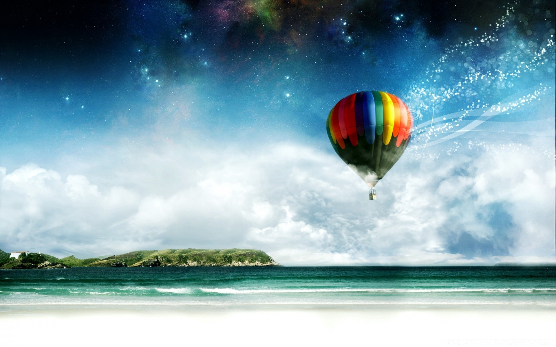 Colorful Hot Air Balloon Ride Android Wallpapers