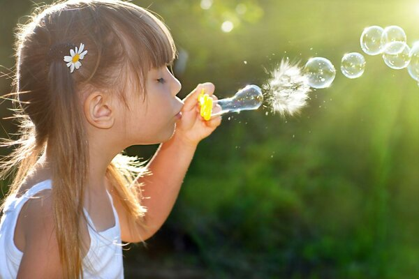 children childhood little girl child girl Bubbles h