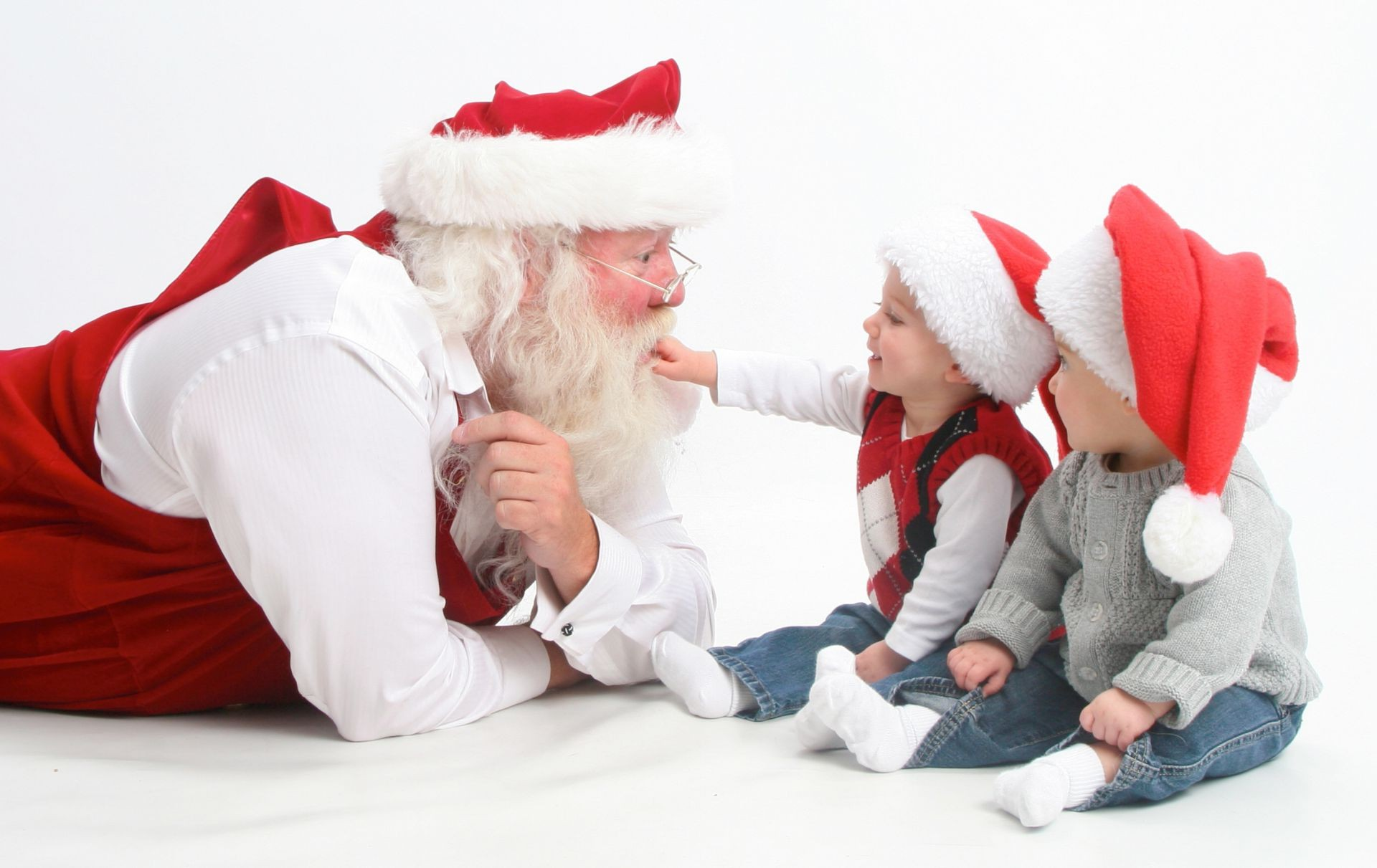 interview santa's children happy holidays merry christma