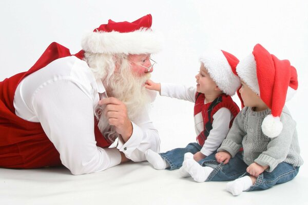 interview santa s children happy holidays merry christma