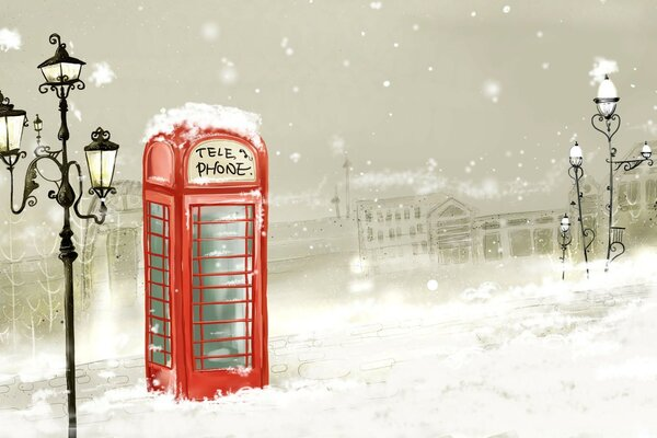 Phone Booth Winter