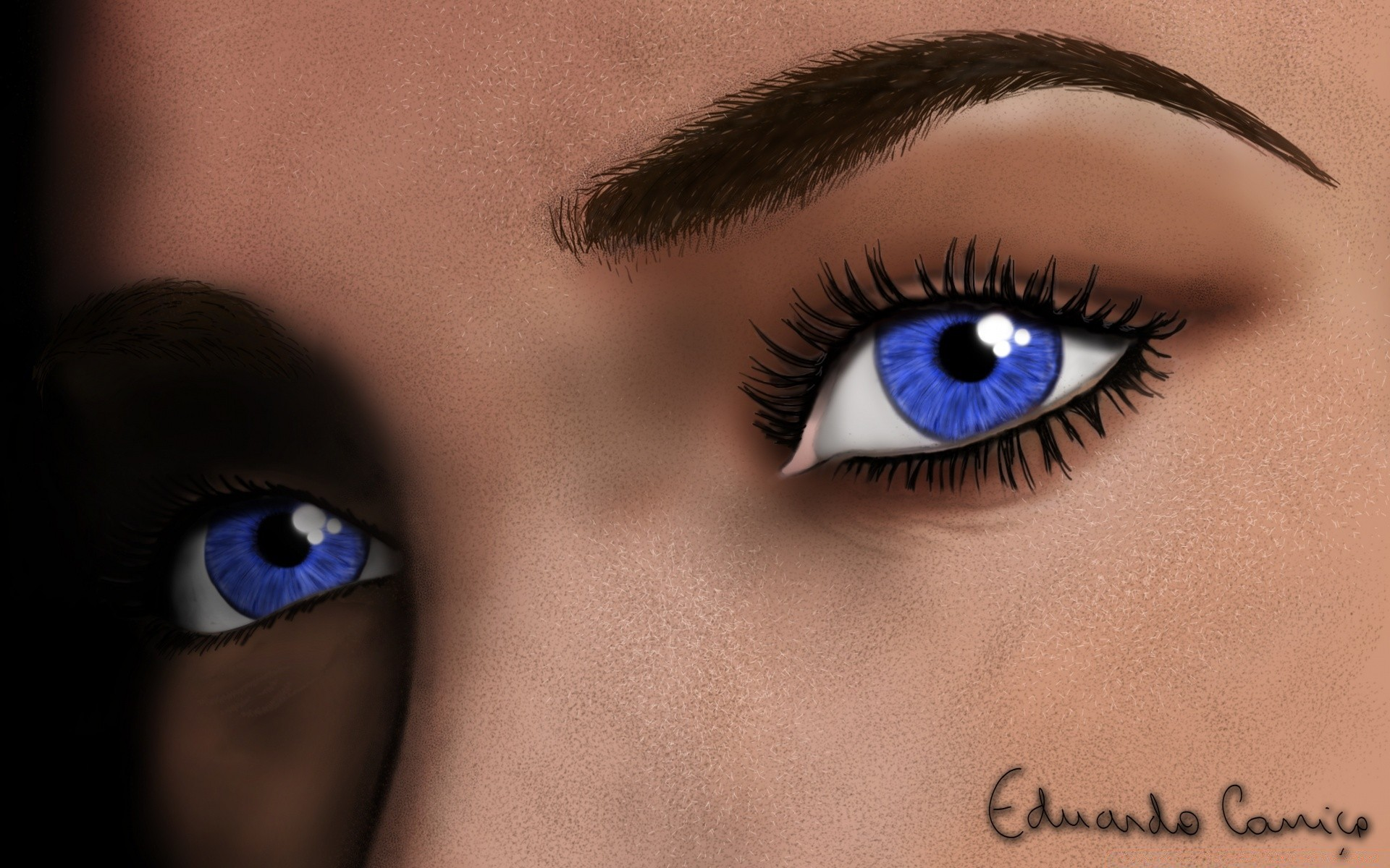 drawings eyeball woman eyesight eyelash glamour eye fashion