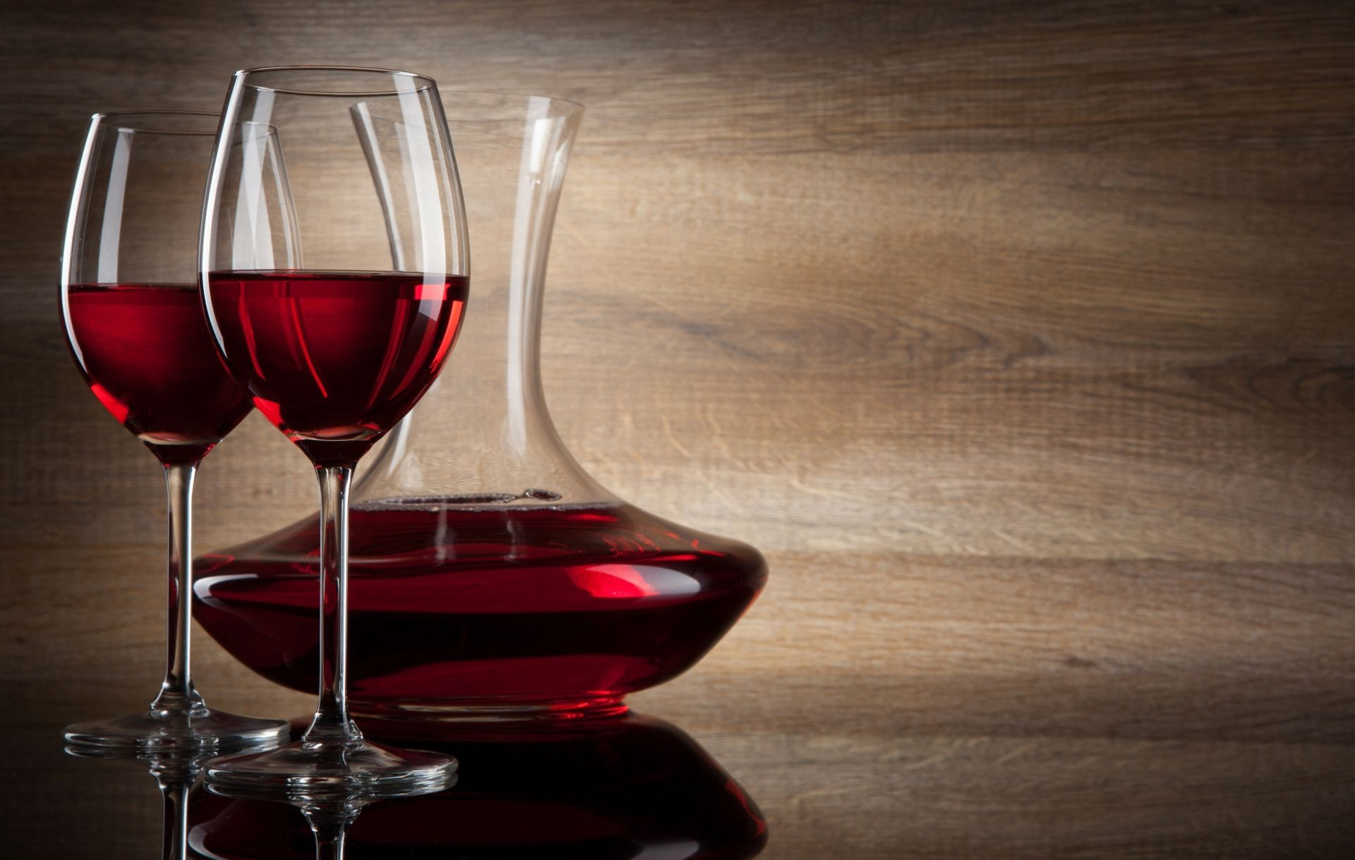 Glasses Red Wine Decanter Shade Android Wallpapers