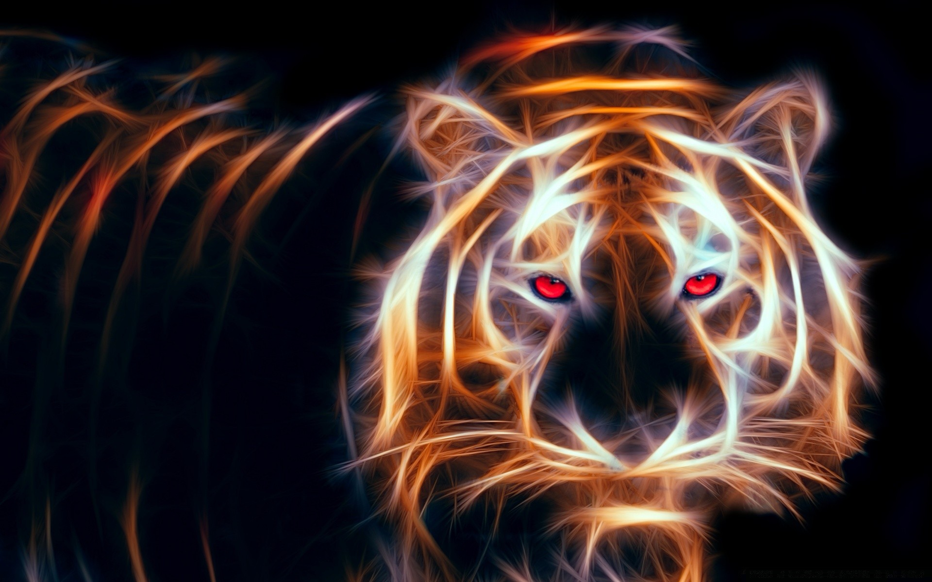 Glowing Tiger Android Wallpapers