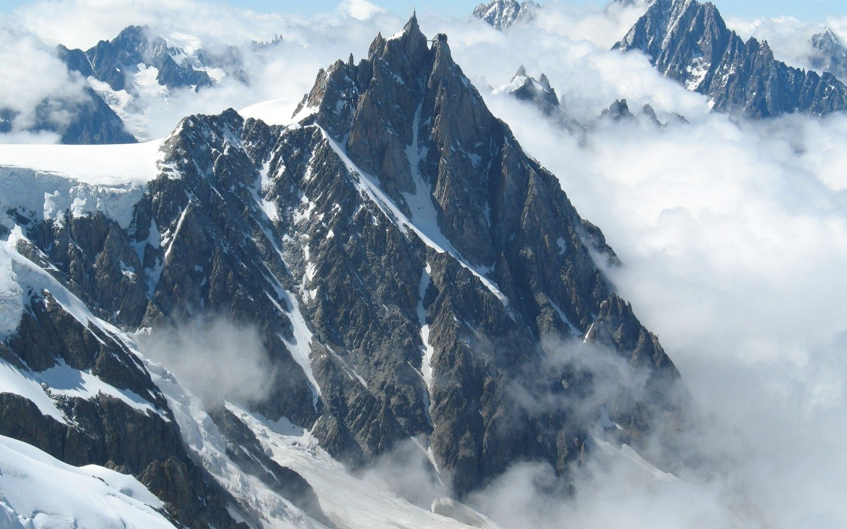 Mont blanc mountains, french alps mountain aiguille du midi. Android wallpapers for free.