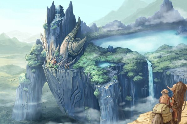 Dragon Castle Fantasy Art