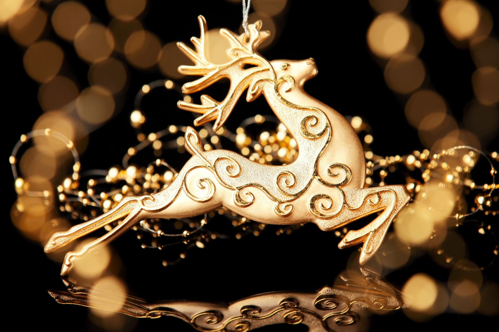 new year gold decoration shining christmas luxury design desktop abstract light