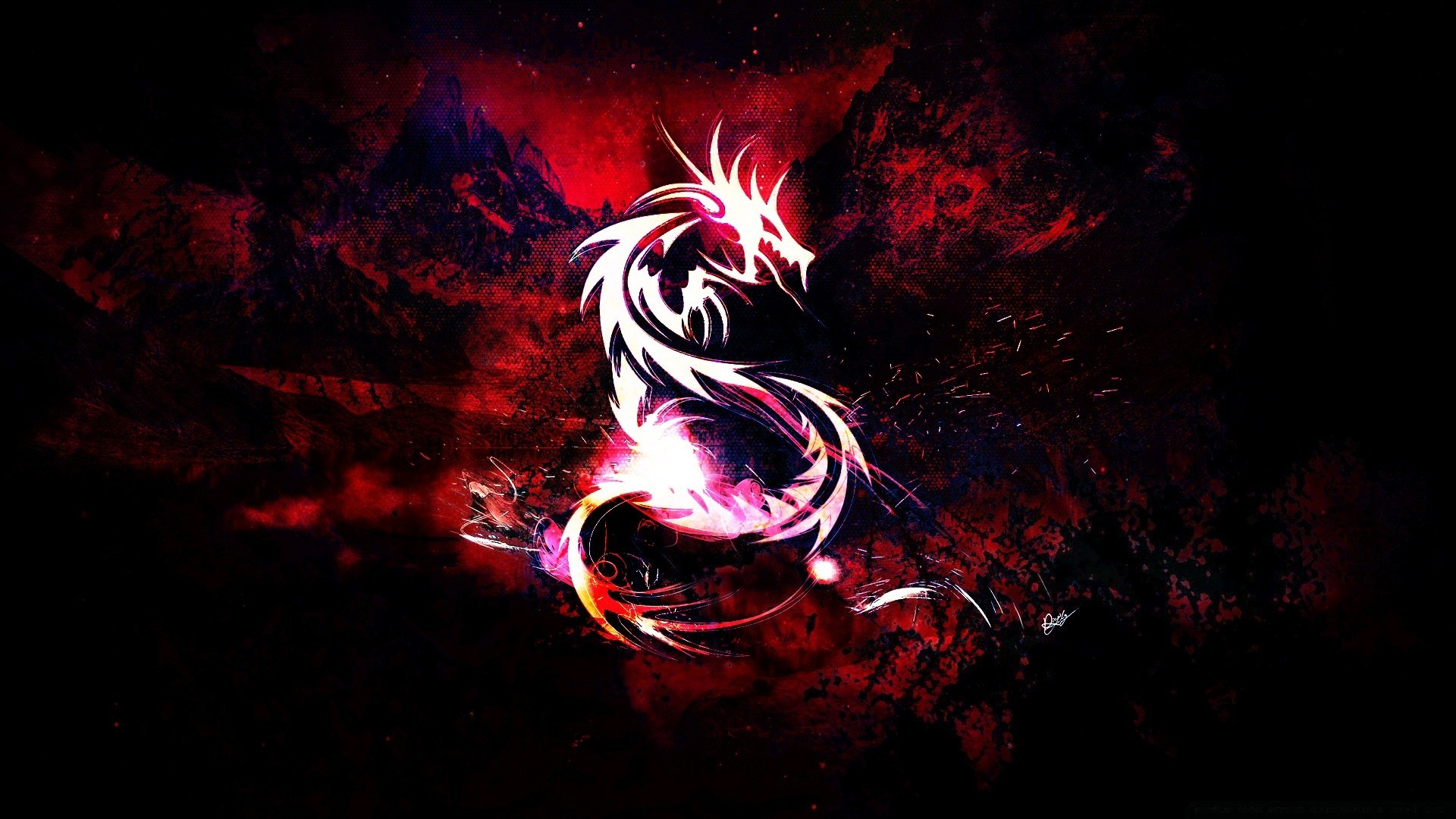 Bloody Red Dragon Phone Wallpapers