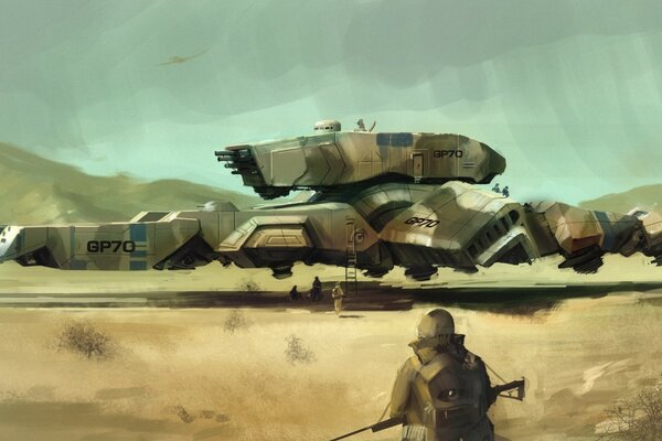 Military Airship Art