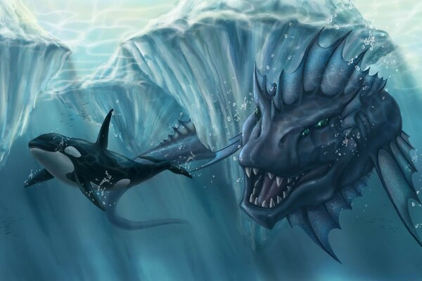 Prehistoric Underwater Monster