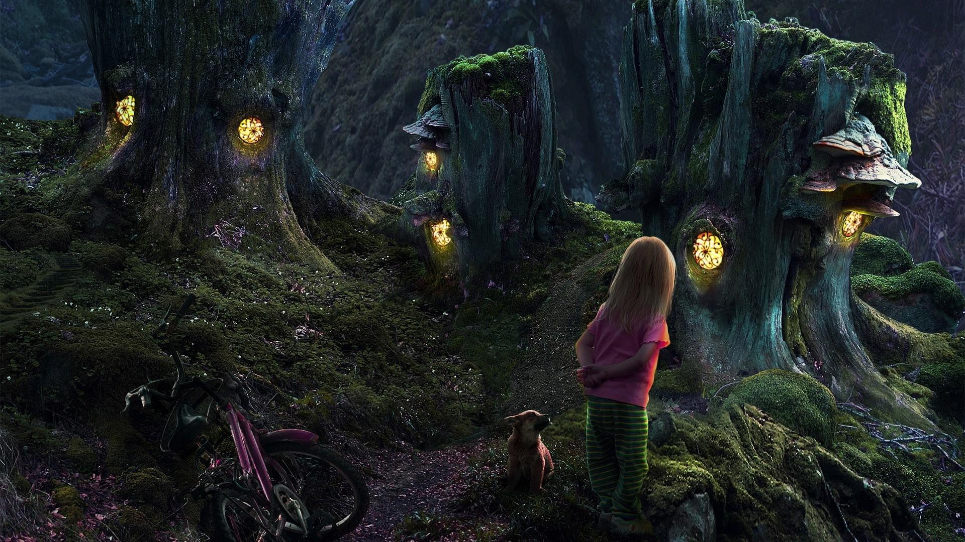 Fairy Tree Houses Phone Wallpapers