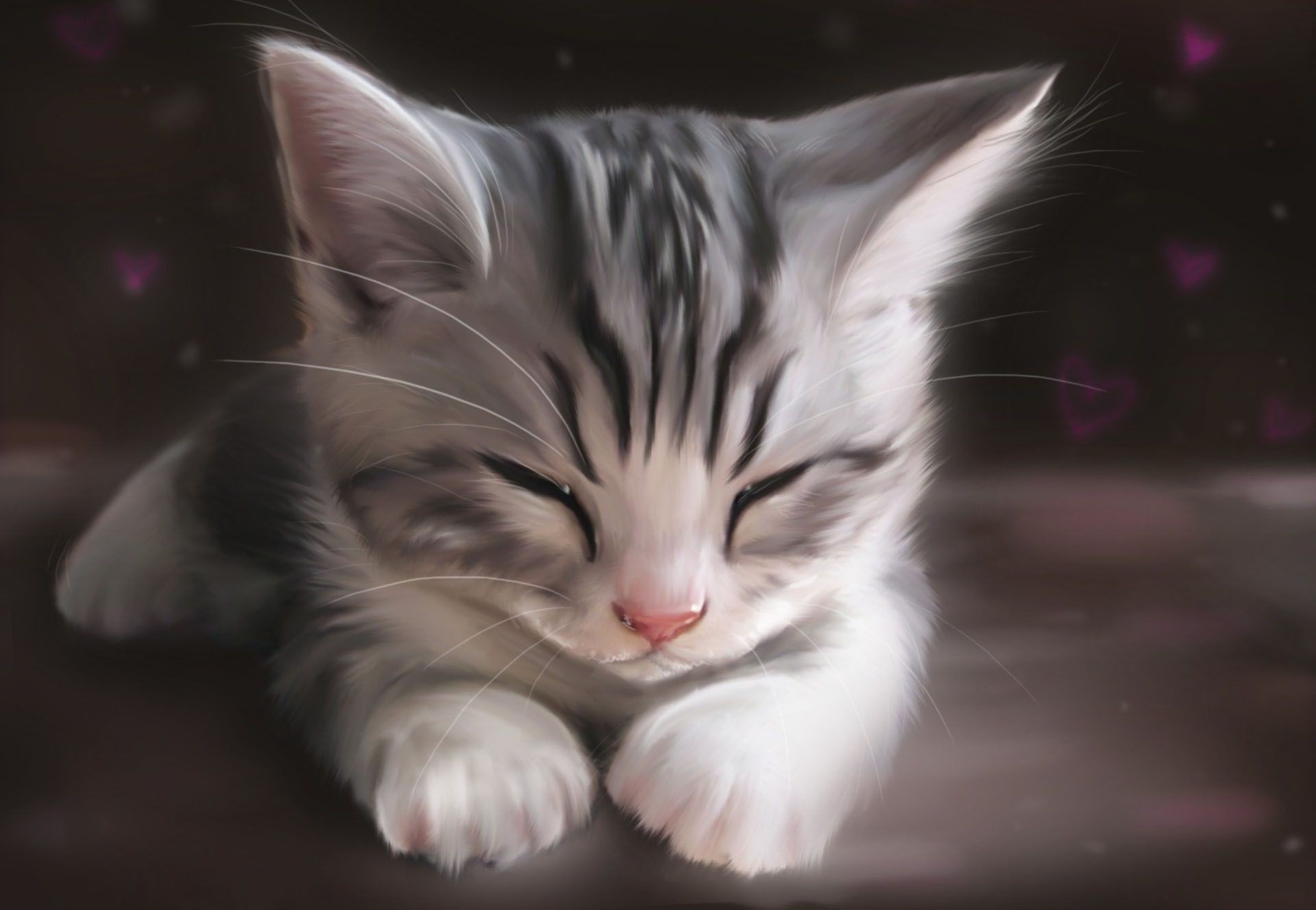 Art Kitty Cat Figure Cat Desktop Wallpapers For Free