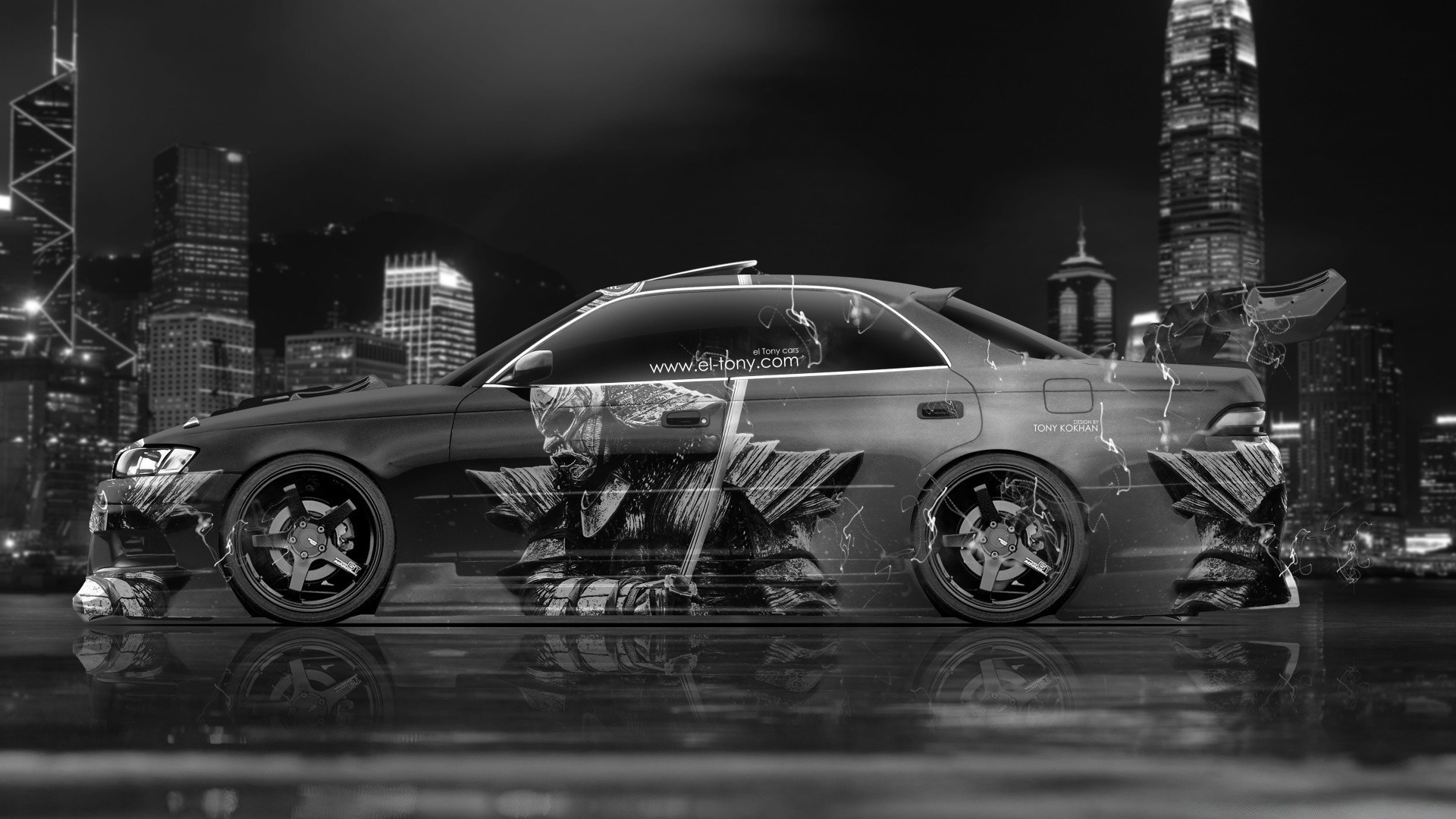 Toyota Mark2 JZX90 JDM Samurai Aerography Car 2015 Design By Tony Kokhan.  Android Wallpapers For Free.