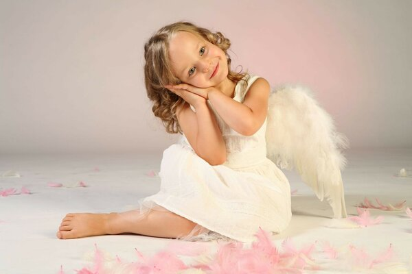 beautiful childhood wings child angel Little girl love