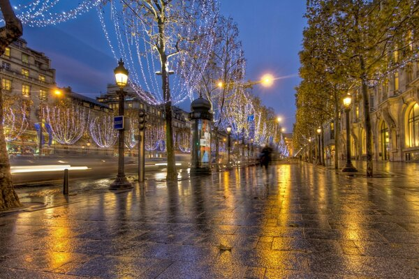 France france road lights wallpapers Paris street about