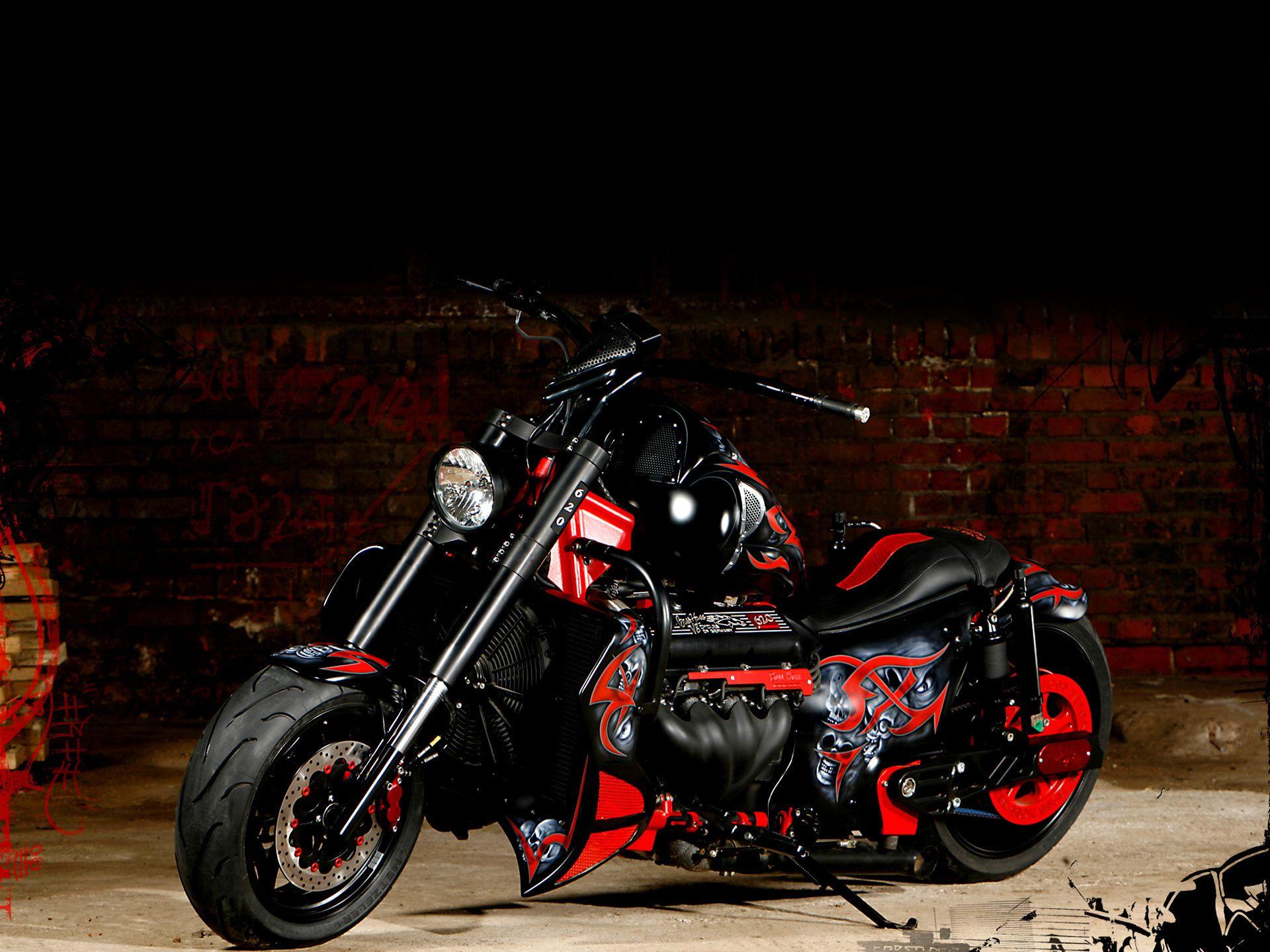 мотоцикл черный байк скачать
