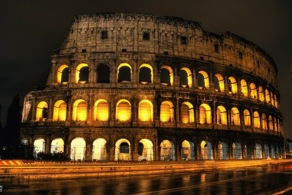 Rome Colosseum road Italy
