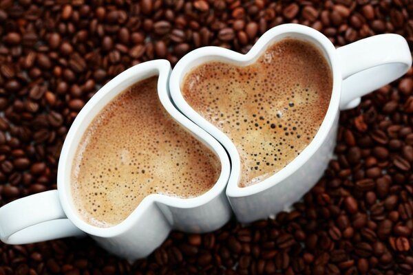 foam grain heart Cup coffee