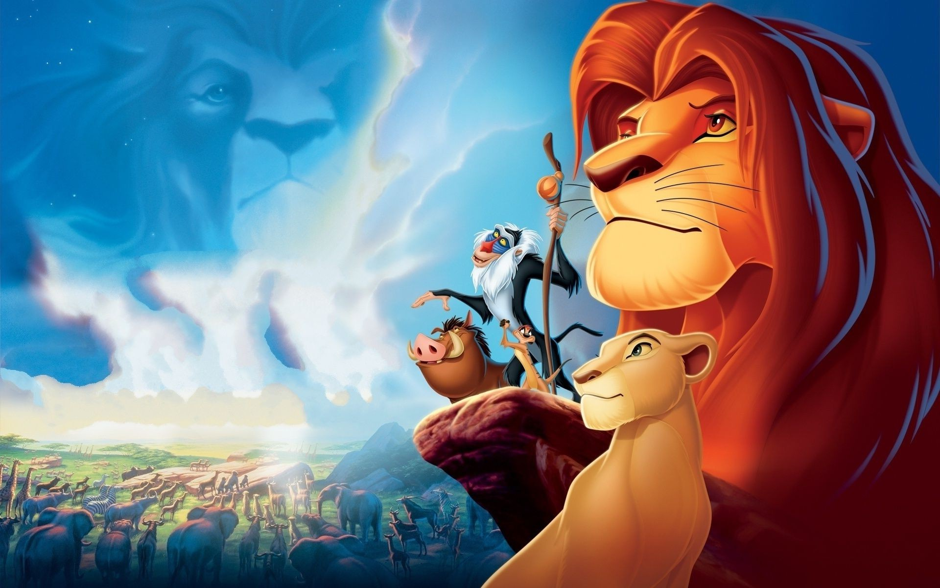 Gathering At The Rock From The Cartoon The Lion King Android