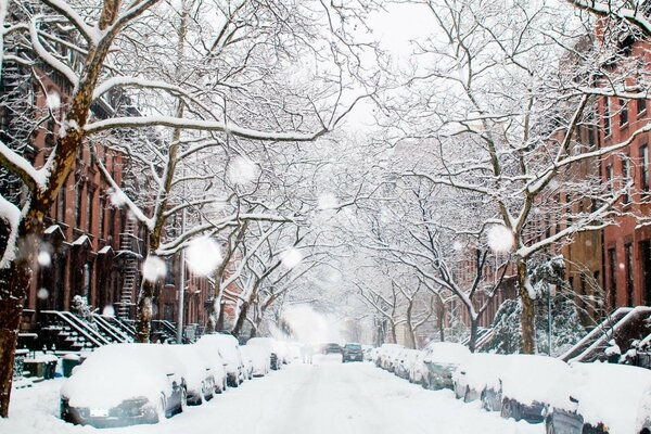 winter city winter street snow street