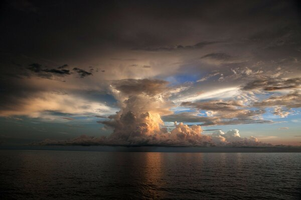 sky cloud sea cloud thunderstorm weather
