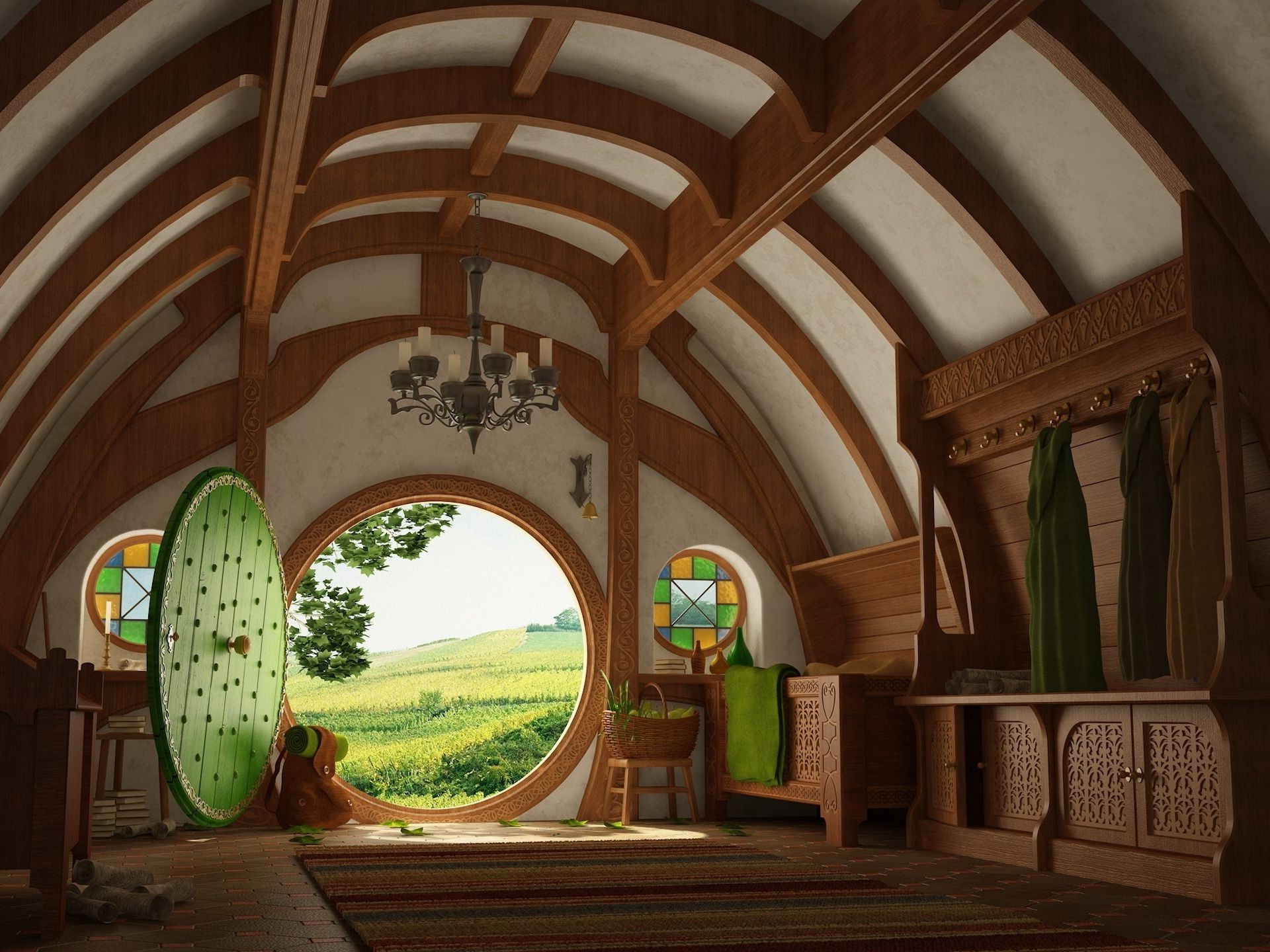 cartoons architecture indoors travel house