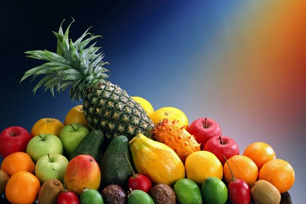 oranges pineapple fruit exotic fruit Background
