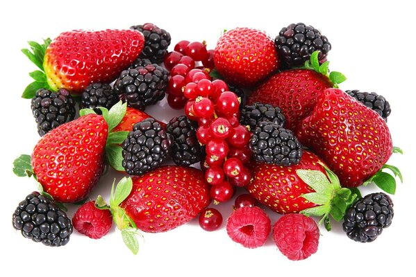 raspberries blackberries Strawberries berries currants red