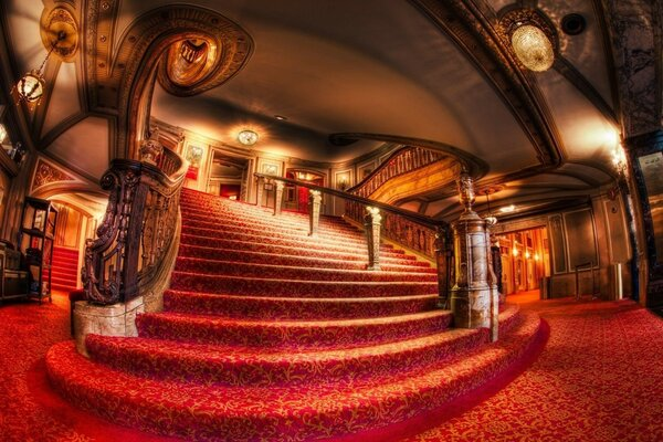 light staircase theatre is beautiful