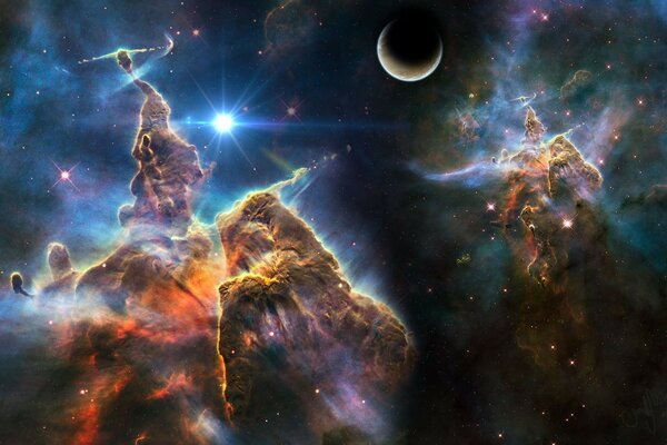 Space art space stars nebula stars planet pl