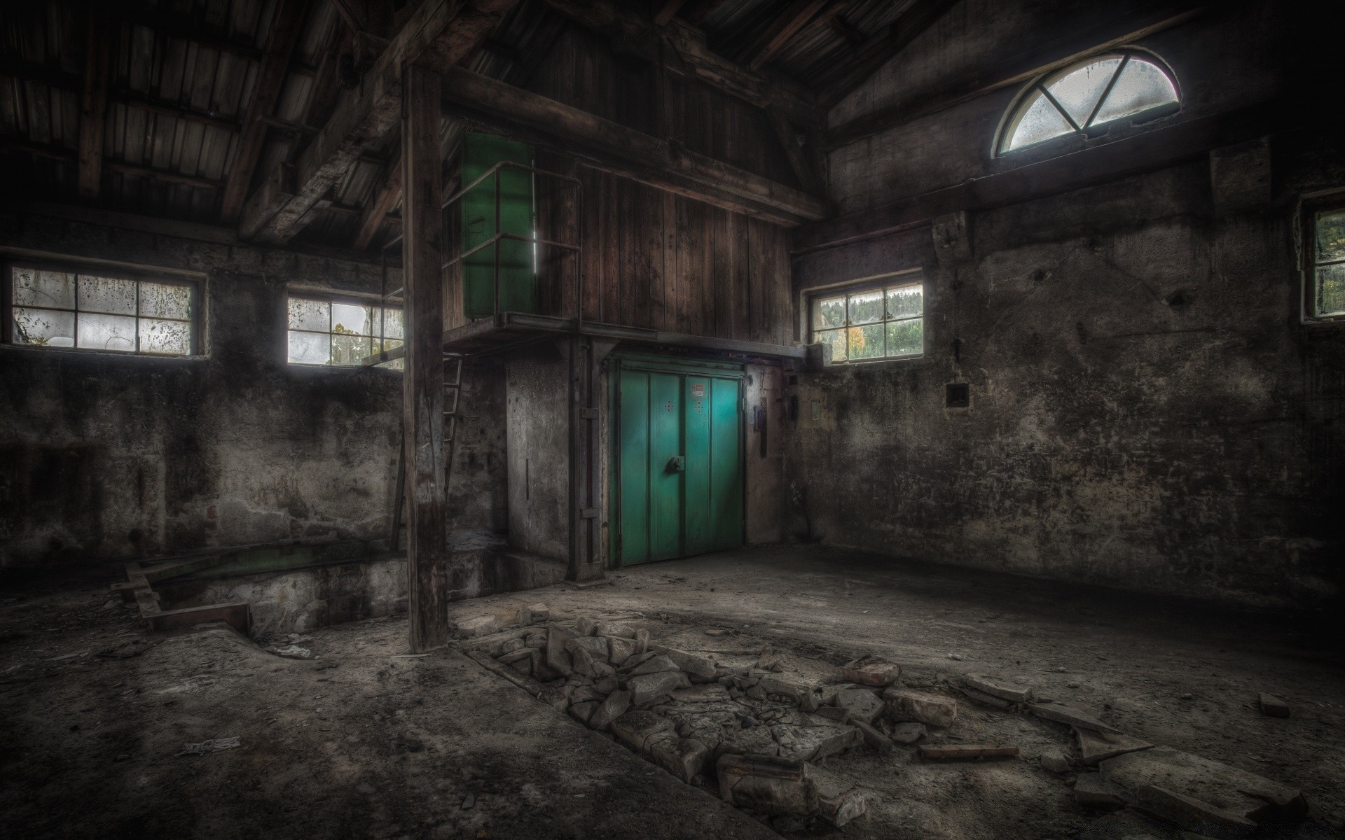 urban abandoned creepy decay eerie light building warehouse architecture dark graffiti offense indoors skittish derelict shadow broken jail ghost old