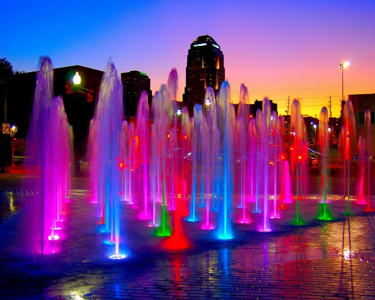 фонтан город сумерки fountain the city twilight загрузить