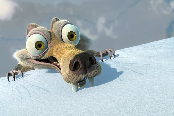 Squirrel from the cartoon Ice age